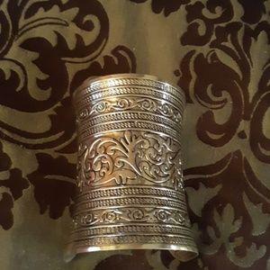 Jewelry - Tibetan silver large arm cuff